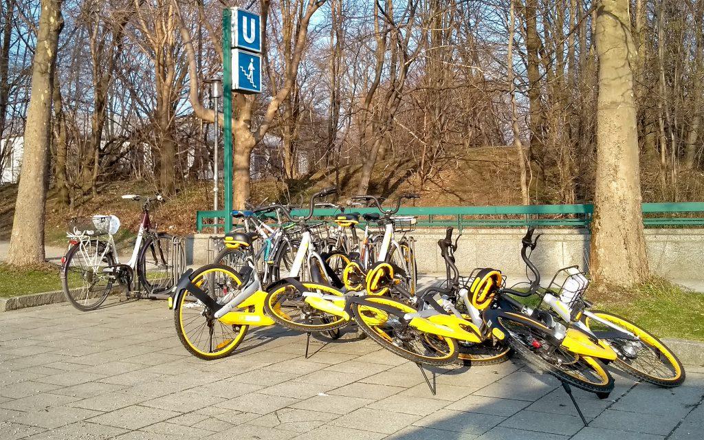 Leihfahrräder von oBike